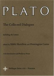 Cover of: The Collected Dialogues of Plato: including the letters