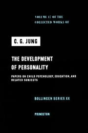 Cover of: Development of Personality