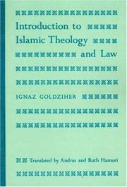 Cover of: Introduction to Islamic theology and law