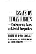 Cover of: Essays on human rights |