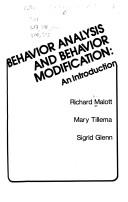 Cover of: Behavior analysis and behavior modification