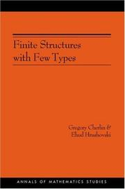Cover of: Finite Structures with Few Types. (AM-152) (Annals of Mathematics Studies) | Gregory Cherlin