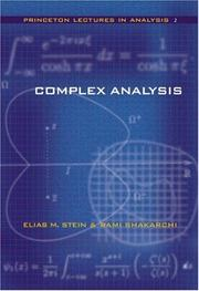 Cover of: Complex Analysis (Princeton Lectures in Analysis) | Elias M. Stein