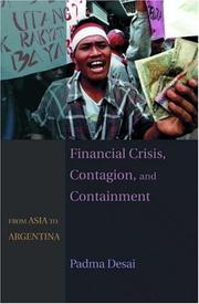 Cover of: Financial Crisis, Contagion, and Containment | Padma Desai