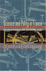 Cover of: Science and polity in France