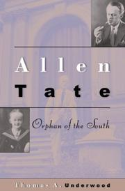 Cover of: Allen Tate | Thomas A. Underwood