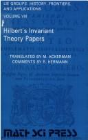 Cover of: Hilbert's invariant theory papers