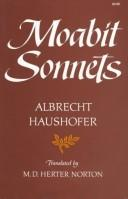 Cover of: Moabit sonnets