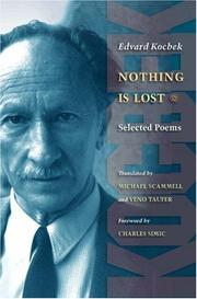 Cover of: Nothing is lost