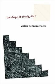 Cover of: The shape of the signifier