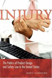 Cover of: Injury | Sarah S. Lochlann Jain