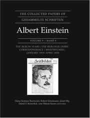 Cover of: The Collected Papers of Albert Einstein, Volume 9: The Berlin Years