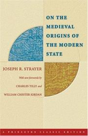 Cover of: On the medieval origins of the modern state