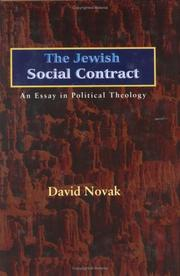 Cover of: The Jewish social contract: an essay in political theology