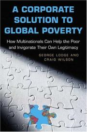 Cover of: A corporate solution to global poverty