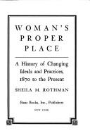 Cover of: Woman's proper place