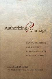 Cover of: Authorizing Marriage?