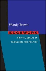 Cover of: Edgework | Wendy Brown