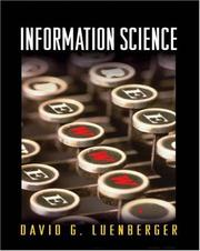 Cover of: Information science