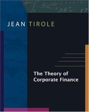Cover of: The theory of corporate finance