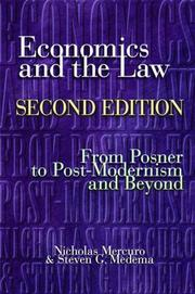 Cover of: Economics and the Law, Second Edition: From Posner to Postmodernism and Beyond
