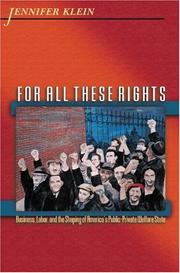Cover of: For All These Rights | Jennifer Klein