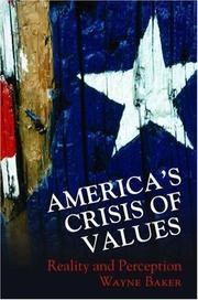 Americas Crisis of Values