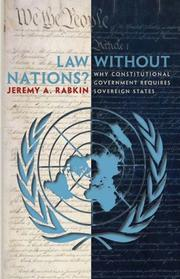 Cover of: Law without Nations?