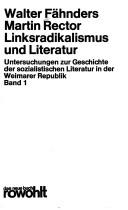Cover of: Linksradikalismus und Literatur