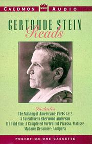 Cover of: Gertrude Stein Reads