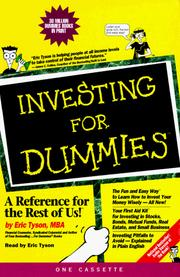 Cover of: Investing for Dummies (--for Dummies (New York, N.Y.).) |