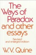 Cover of: The Ways of paradox and other essays