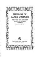 Cover of: Memoirs of Carlo Goldoni