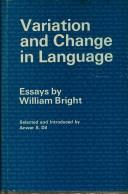 Cover of: Variation and change in language