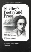 Cover of: Shelley's Poetry and prose | Percy Bysshe Shelley