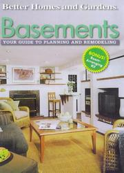 Cover of: Basements  | Better Homes and Gardens