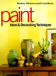Cover of: Paint ideas & decorating techniques. |