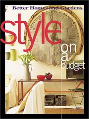 Cover of: Style On a Budget | Better Homes and Gardens