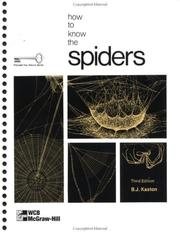 Cover of: How to know the spiders