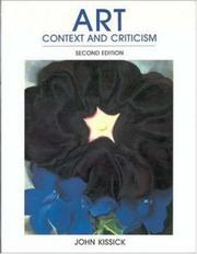 Cover of: Art, context and criticism