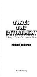 Cover of: Anger and detachment | Michael John Anderson