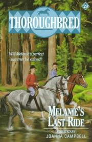 Cover of: Melanie's last ride