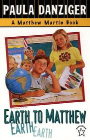 Cover of: Earth to Matthew (Matthew Martin Book)