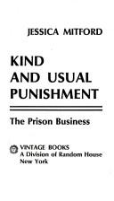 Cover of: Kind and usual punishment