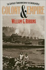 Cover of: Colony and Empire | William G. Robbins
