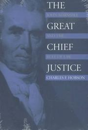 Cover of: The Great Chief Justice