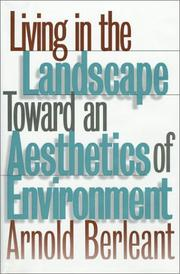 Cover of: Living in the landscape