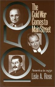 Cover of: The Cold War comes to Main Street