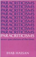 Cover of: Paracriticisms; seven speculations of the times