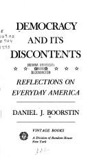Cover of: Democracy and its discontents